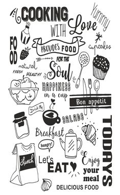 Kitchen Stickers, Kitchen Wall Decals, Kitchen Chalkboard, Chalkboard Art, Mural Cafe, Doodle Wall, Coffee Shop Bar, Kitchen Quotes, Mural Wall Art