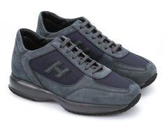 Hogan Interactive men's sneakers in blue suede leather - Italian Boutique €196