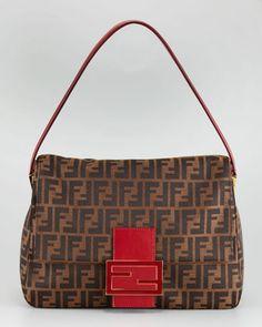 b03543238468 Fendi Zucca Borsa Mamma Shoulder Bag - ShopStyle