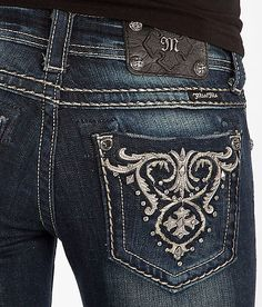 Miss Me Applique Skinny Stretch Jean. Love the wash on these jeans !