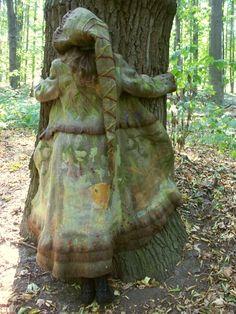 """пальто валяное """"Духи леса"""" , войлочное пальто, felting coat, зеленое пальто, лесное пальто"""