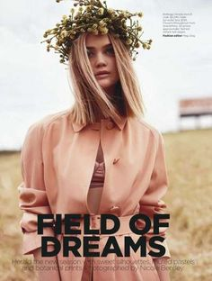 Ok... we get it, but do you have to wear the field on your head? Fashion - sigh.   Rosie Tupper Light Pink #dresses