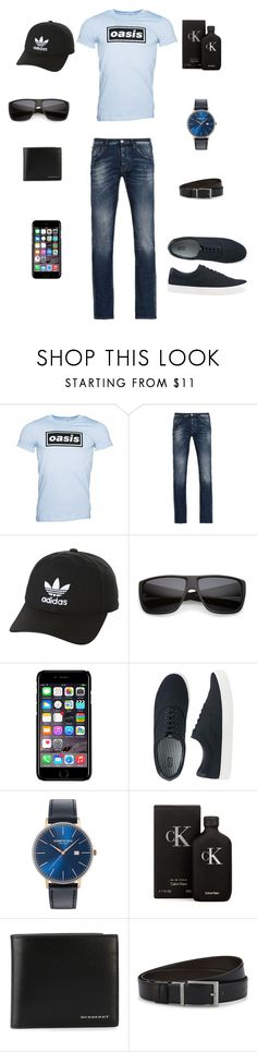 """Bez naslova #33"" by mirhajamakovic ❤ liked on Polyvore featuring Armani Jeans, adidas Originals, Off-White, Uniqlo, Kenneth Cole, Calvin Klein, Burberry, HUGO, men's fashion and menswear"
