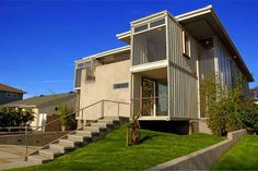 First official 2-story shipping container home in the US designed by Peter DeMaria