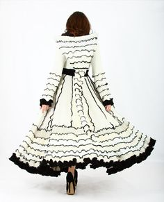 Custom Bridal Coat-made by Enlightened Platypus out of recycled sweaters. How cool is this?