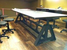 Custom conference room table @waterjetcut_mt www.waterjetcut.co/