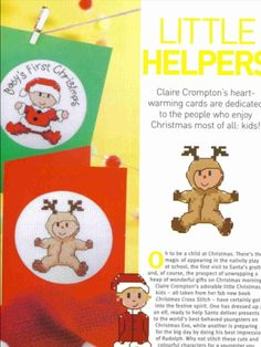 Little Helpers Cross Stitch Card Shop Issue 56 September/October 2007 Saved