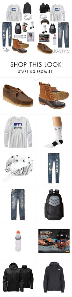 """We were ADORABLE"" by nikeprepster16 ❤ liked on Polyvore featuring Clarks, L.L.Bean, Patagonia, NIKE, Hollister Co. and The North Face"