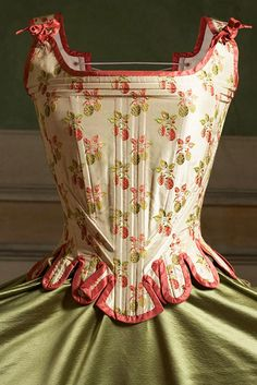 Marie Antoinette Corset, using Fragole embroidered silk fabric manufactured by Rubelli, Venice.