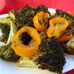 This side dish combines broccoli and bell pepper seasoned with Montreal steak seasoning, (CUT BACK ON SEASONING!!!)