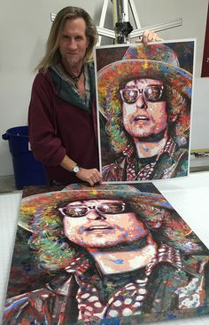 Bob Dylan Art, 3 Arts, My Eyes, Vibrant Colors, Toms, Live, Abstract, Painting, Summary