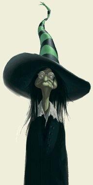 Alfin encontre a la bruja de sombrero con vestido negro!