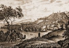 Крепость Дербент. Гравюра Фидлера. 1836