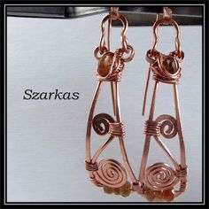 Jewelry by Szarka : Copper Paddle with Apatite