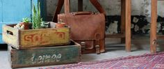 Nothing makes seasonal decorating easier than vintage wooden crates. In fact, decorating in general is easy with vintage crates. They make excellent storage,