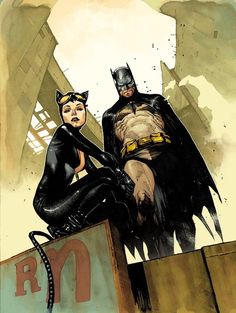 Batman and Catwoman by Olivier Coipel