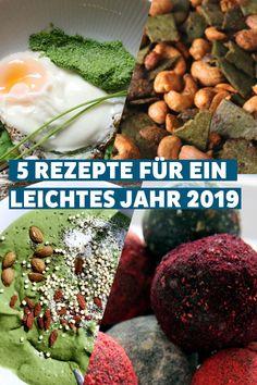 """Gehört """"gesünder essen"""" zu deinen Neujahrsvorsätzen? Dann haben wir die perfekte Starthilfe auf unserem Blog für dich! 5 gesunde Chlorella Rezepte! Superfood, Cereal, Grains, Rice, Breakfast, Blog, Clean Foods, Food Food, Health"""