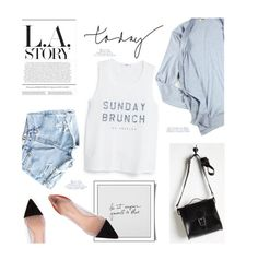 """""""Sunday Brunch"""" by julesdiaries ❤ liked on Polyvore featuring MANGO, Acne Studios, Brit-Stitch, Gianvito Rossi, summer2015 and sundayoutfit"""