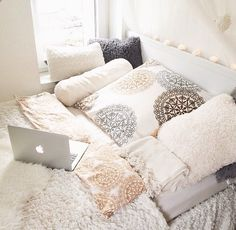 all white Dream Rooms, Dream Bedroom, Home Bedroom, Bedroom Decor, Bedrooms, Bedroom Ideas, Bedroom Styles, My New Room, House Rooms