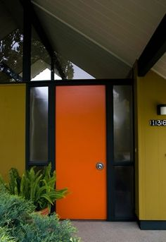 Eichler's entrance door #MidCenturyModern