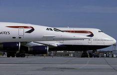 British Airways Concorde and B 747 - 400