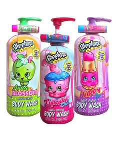 This Shopkins Lip Balm & Body Wash Set by Shopkins™ is perfect! #zulilyfinds