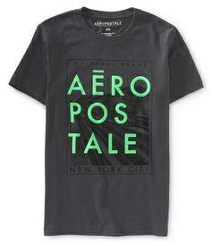 Aéropostale Flocked Graphic T