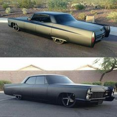 Check out Facebook and Instagram: @metalroadstudio Very cool! MURDERED OUT 1968 Cadillac Deville dropped.