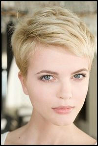 I love short hair. I wonder if a) this would look good on me and b) I would be brave enough to go this short