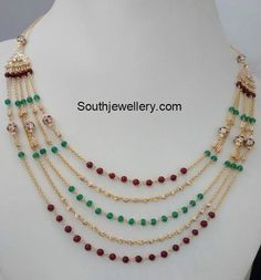 Gold Necklace latest jewelry designs - Page 8 of 72 - Indian Jewellery Designs Bead Jewellery, Latest Jewellery, Beaded Jewelry, Jewelry Necklaces, Jewelery, Gold Necklace, Jewelry Shop, Jewelry Making, Beaded Necklace Patterns