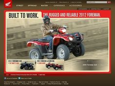 Honda Motorcycles - CoolHomepages Web Design Gallery