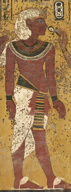 """tiny-librarian: """" Detail of the south wall in the burial chamber of the Tomb of Tutankhamun. Source """""""