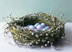 """""""Гнездо"""" для пасхальных яиц. Идеи, МК. Обсуждение на LiveInternet - Российский Сервис Онлайн-Дневников"""