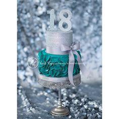 Birthday Cake. Silver Glitter. 18th Birthday. Bakery. Birthday Party. Custom Cake. #VillageIndulgence Heidi Hope Photography @Kerricupcake on Instagram
