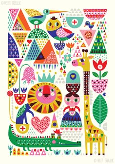 Petit Monkey poster Scandinavian Zoo 50 x 70 cm Dinosaur Posters, Arte Popular, Design Graphique, Surface Pattern Design, Cute Illustration, Art Inspo, Illustrators, Print Patterns, Folk Art