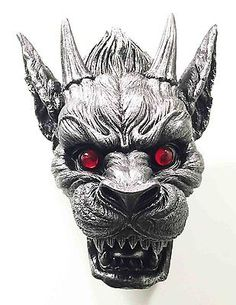 Guardian-Dog-Gargoyle-Head-Bust-Hanging-Wall-Mount-Home-Decor-Statue-16-5-034-H