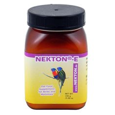 Nekton-E is a vitamin E concentrate in powder from for use in birds mammals and some reptiles.Nekton-E is soluble in cold water. It can be added to a bird's drinking water or sprinkled over soft foo...