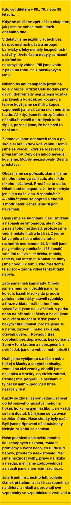 Kdo byl dítětem v 60., 70. nebo 80. letech… | torpeda.cz - vtipné obrázky, vtipy a videa