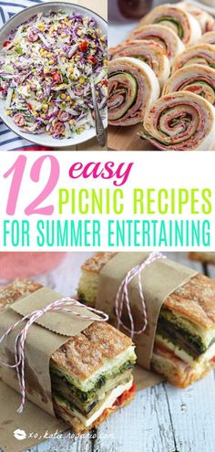12 Easy Picnic Recipes for Summer Entertaining | Looking for quick and refreshing picnic recipes? You must try these picnic recipes that are perfect for making ahead of time and eating outdoors. With these summer picnic recipes, all the work is done ahead of time, prepare these delicious recipes at home before storing them in a cooler to take with you. #xokatierosario #picnicrecipes #picnicfoodideas #outdoorentertaining Tailgating Recipes, Tailgate Food, Healthy Picnic Recipes, Comida Picnic, Picnic Lunches, Picnic Potluck, Picnic Dinner, Picnic Time, Make Ahead Lunches
