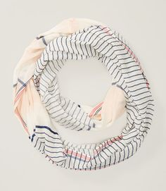 Image of Striped Infinity Scarf