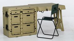 Pelican HARDIGG Single Unit Field Desk; good thing to have in your base camp. And it's mobile.