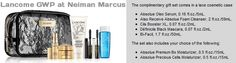 Neiman Marcus and its GWP for this Fall 2013 http://cliniquebonus.org/lancome-gift-with-purchase/
