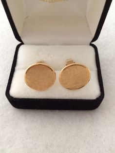 Estate 14k Fine Gold  Men's Cuffinks Cuff Links by TrendsCouture