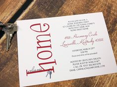 Welcome Home House Warming Party Invitation Deposit. $20.00, via Etsy.