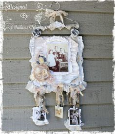 ILuvVintageScrap: Vintage Shabby Chic Hanger Sign/Layout