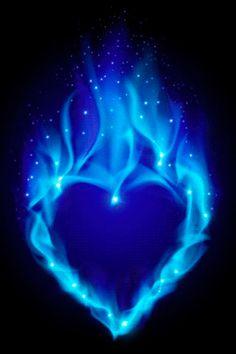 gif. blue heart