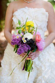 Ramo de novia de colores