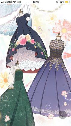 Barbie Fashion Sketches, Fashion Drawing Dresses, Anime Girl Dress, Anime Art Girl, Anime Character Drawing, Manga Drawing, Mode Kawaii, Royal Art, Drawing Anime Clothes