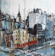 "Saatchi Art Artist: Irina Rumyantseva; Acrylic 2012 Painting ""Streets of New York"""