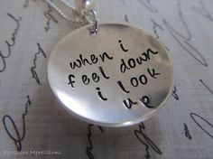 Handstamped Necklace Sterling Silver Cross by XpressiveMpressions, $36.00